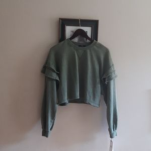 NWT 7 For All Manking Cropped Top